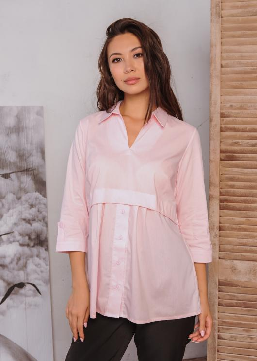 Блузка Тори нежно-розовая