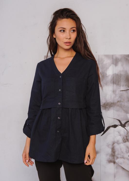 Блузка Тори черная